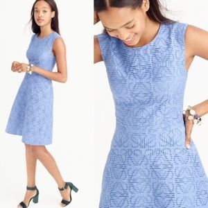 J. CREW Textured Eyelet Jacquard Dress {2C12}